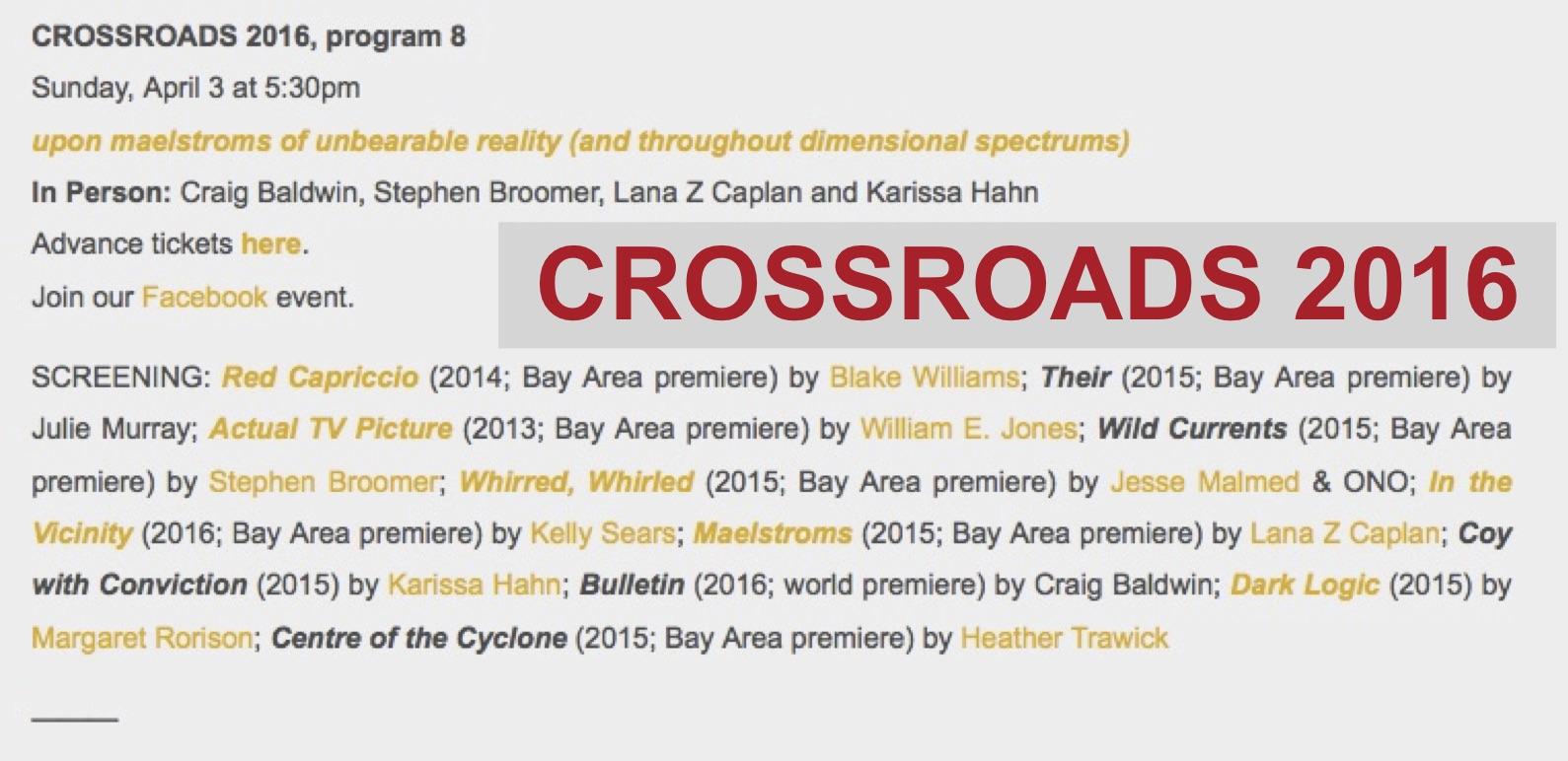 Crossroads SF 16 pgm